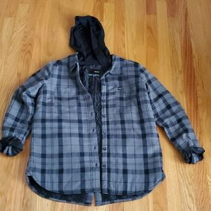 Juniors Hurley plaid jacket, worn slightly